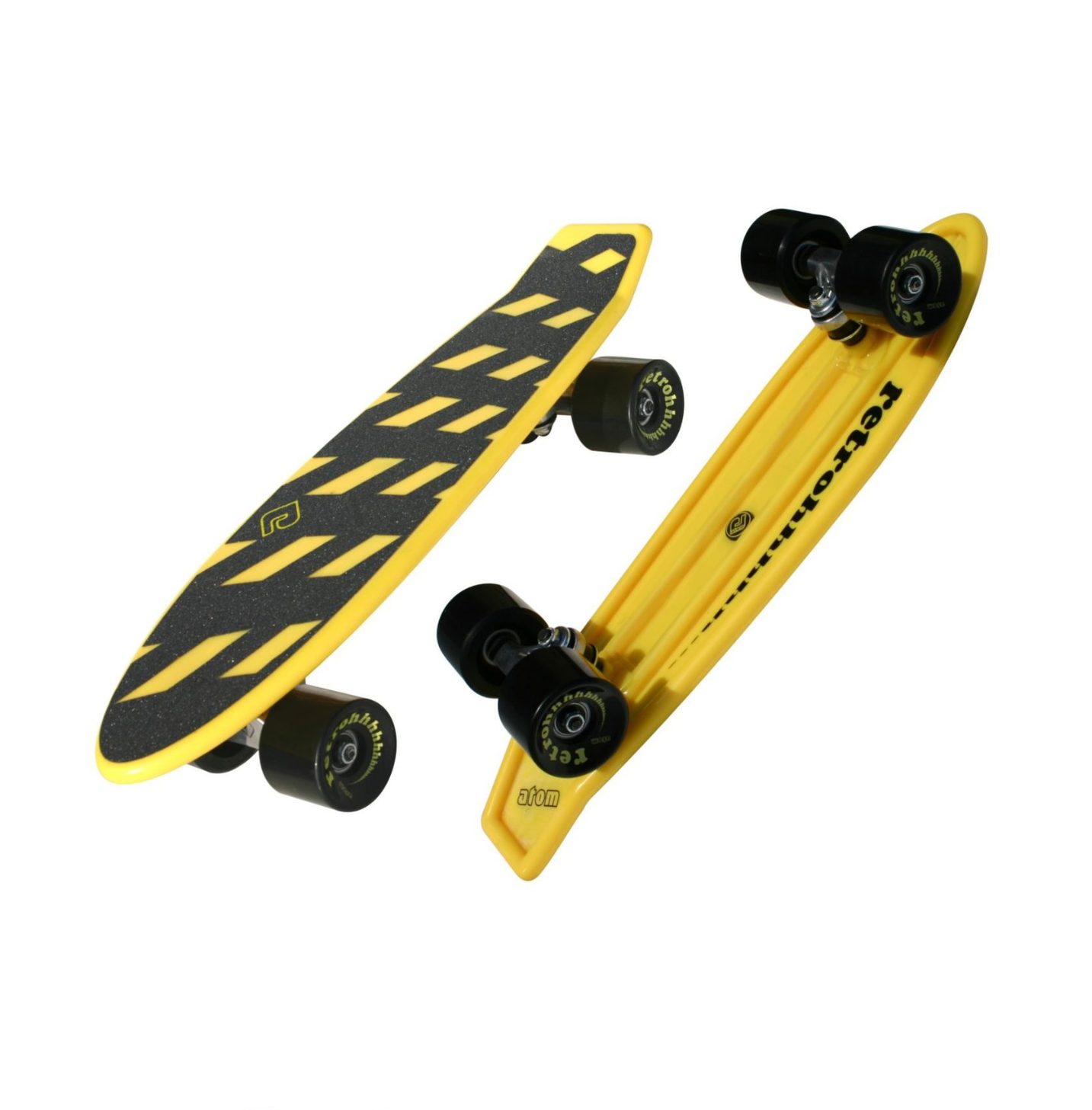 "Image of Atom 21"" Mini-Retroh Molded Skateboard -Yellow"
