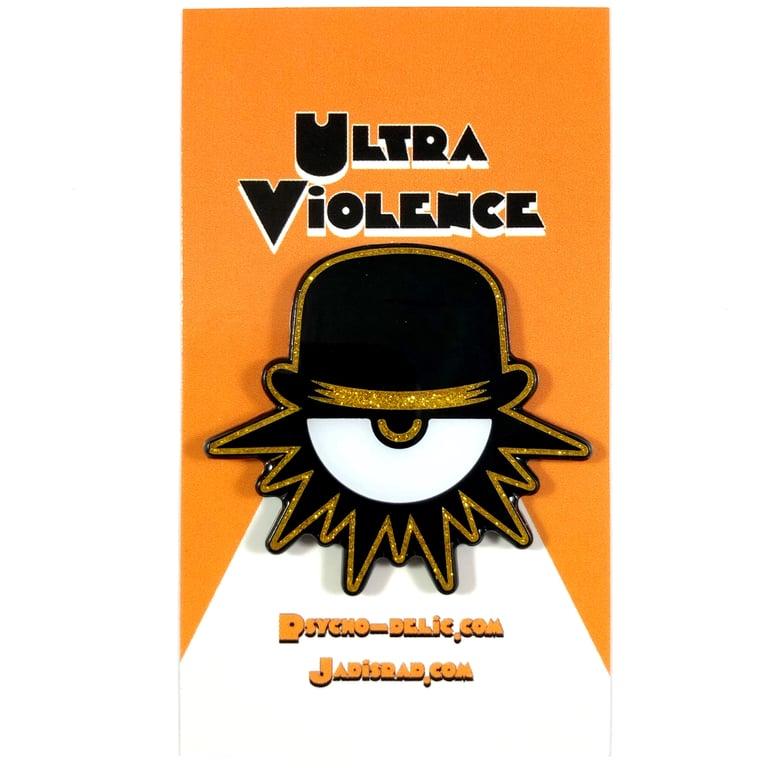 Image of Ultra Violence 2.0 GLITTER (Enamel Pin)
