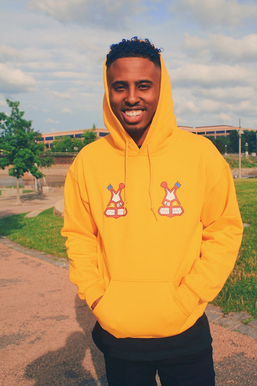 Image of TCBA MAB Face Gold Hoodie