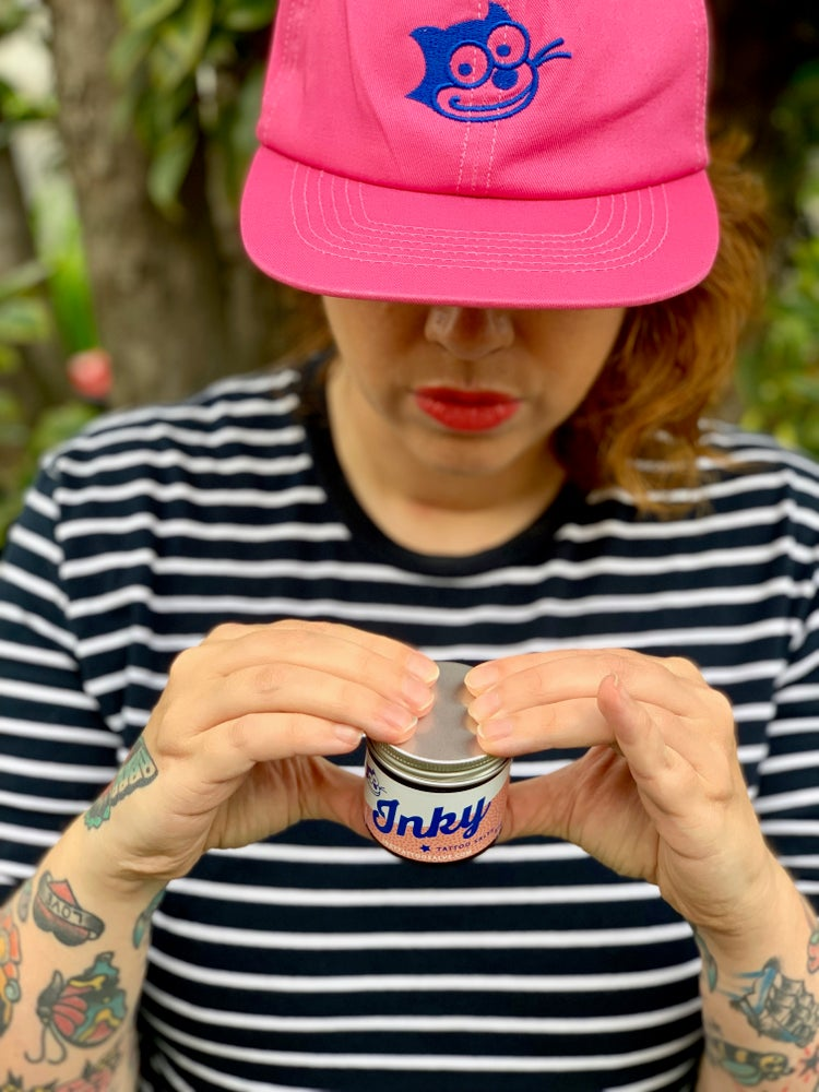 Image of Inky Tattoo Salve Hot Pink Hat