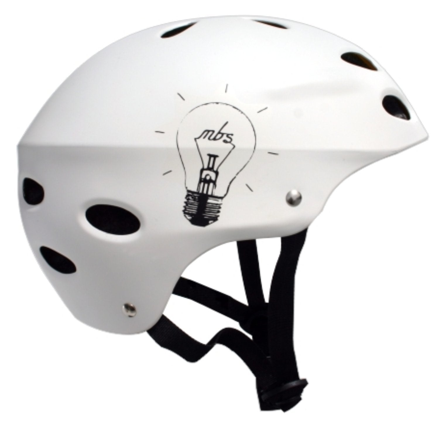 "Image of MBS Helmets - White - ""Bright Idea"""