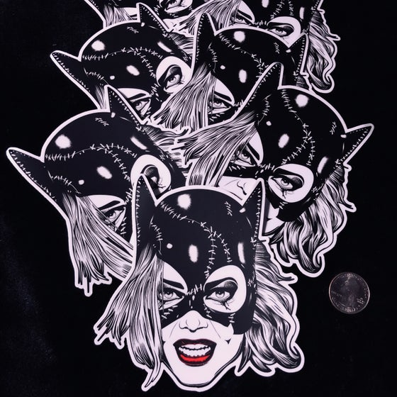 Image of Catwoman 5x5 Vinyl Slaps w/Matte Satin Finish