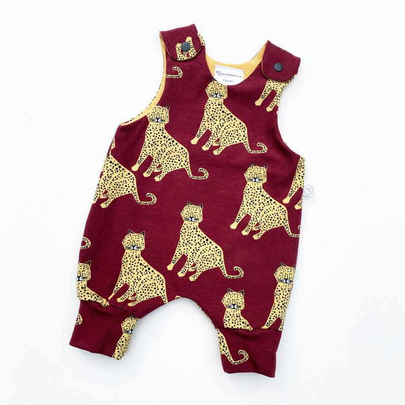 Image of Berry Cheetah Romper