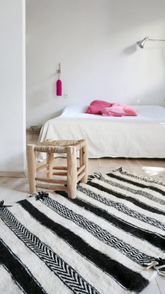 Image of Small kilim Wool Shadoui - Black and White