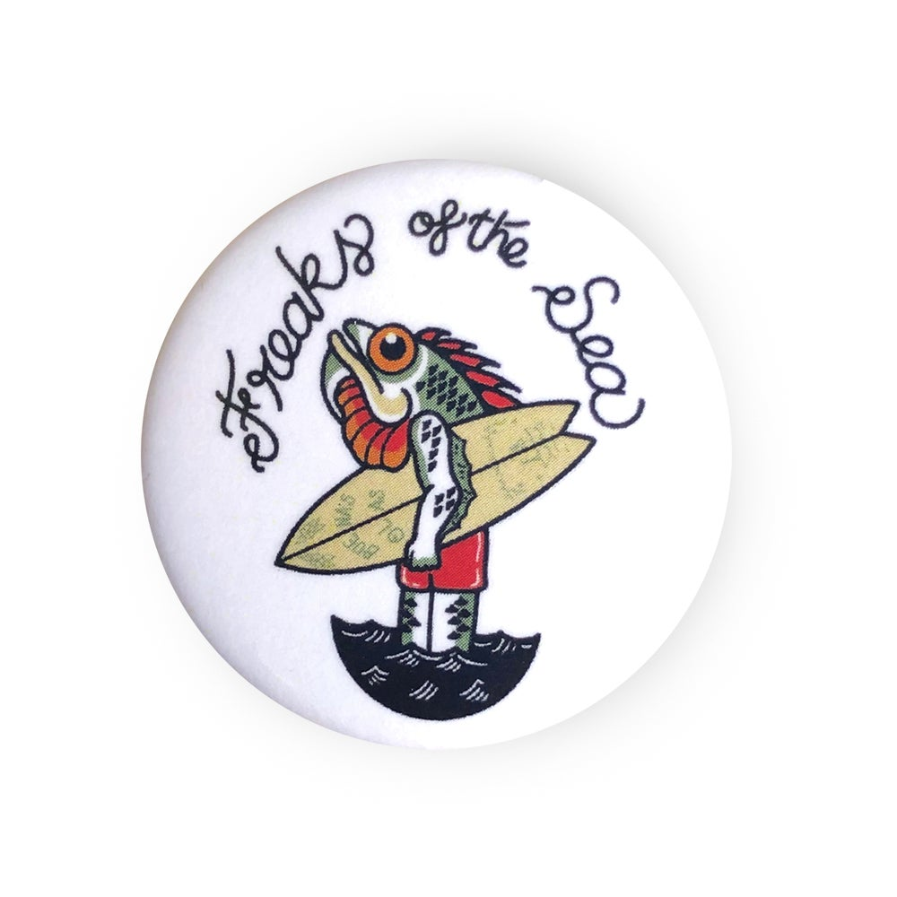 Image of The Fish Man button badge
