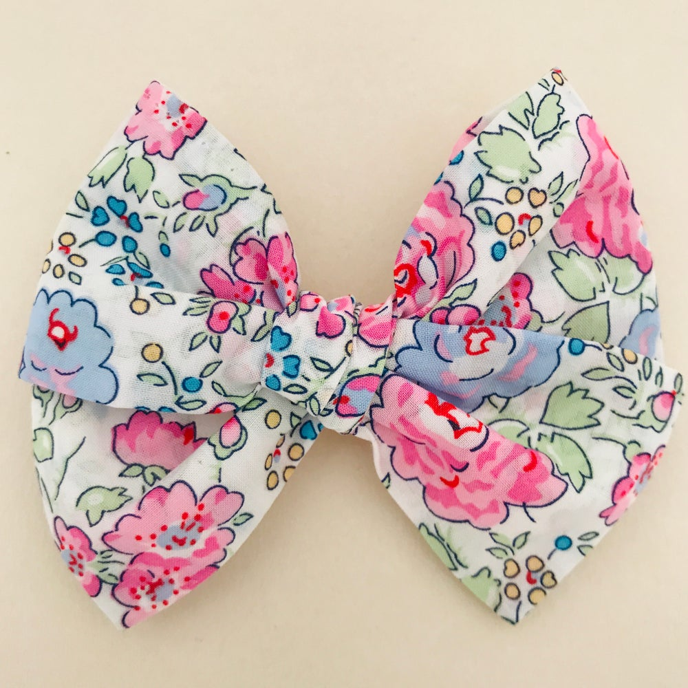 Image of Barrette Liberty Felicite rose & bleu