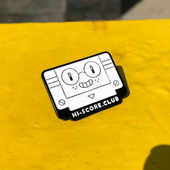 Image of Hi-Score Club Enamel Pin Badge