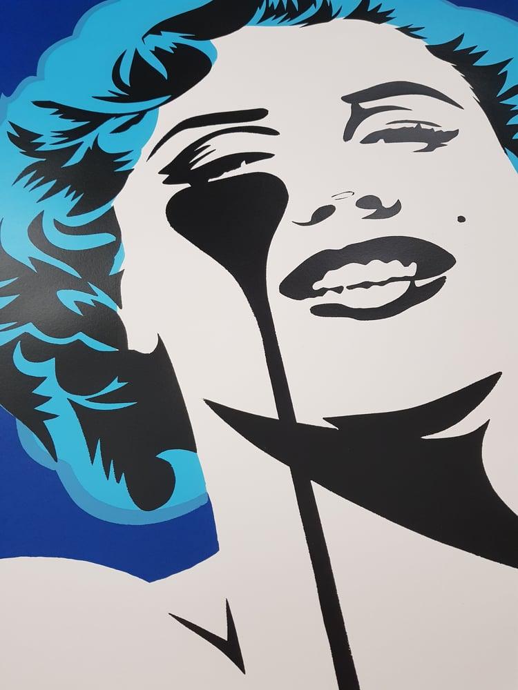 "Image of PURE EVIL ""I DREAM OF MARILYN"" - (GLACIER BLUE HAIR) LTD ED 100 - 70CM X 85CM"