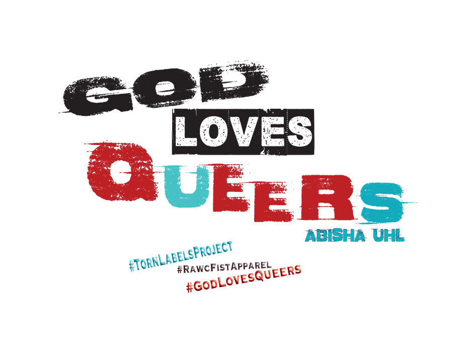 Image of God Loves Queers Blu/red/blk