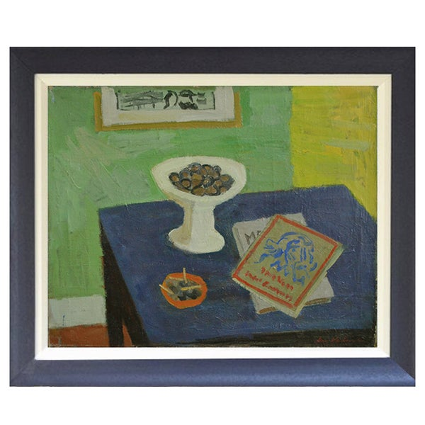 Image of 1942, Swedish Still Life Painting, 'Chestnuts,' ARWID KARLSON