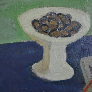 Image of 1942, Swedish Still Life Painting, 'Chestnuts,' ARWID KARLSON