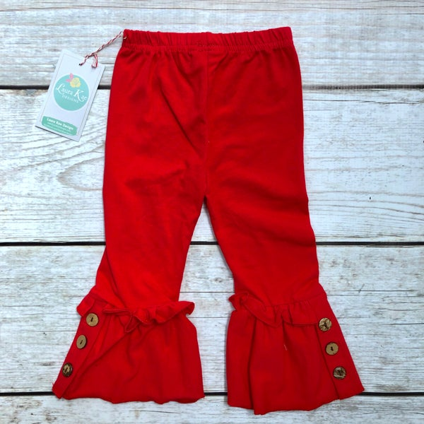 Image of Red Knit Ruffles