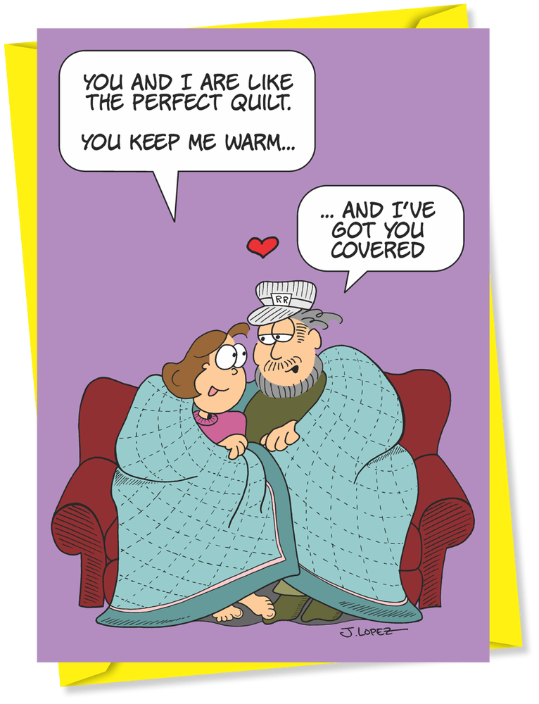 """Image of """"Like the Perfect Quilt"""" Anniversary Card, By the Yard™"""