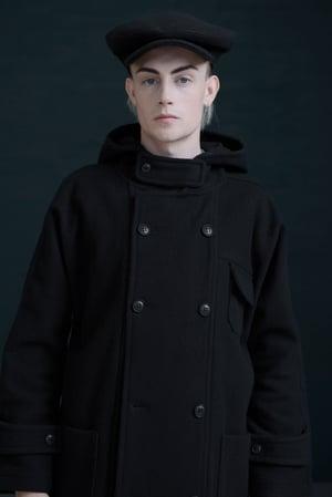 Image of SAVOY BROWN CAP - BLACK