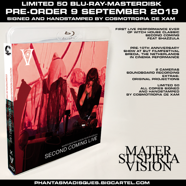 Image of MATER SUSPIRIA VISION LIVE 2019 - BLU-RAY-R (DESIGN B) SIGNED AND STAMPED, LIMITED 50