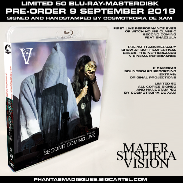 Image of MATER SUSPIRIA VISION LIVE 2019 - BLU-RAY-R (DESIGN A) SIGNED AND STAMPED, LIMITED 50