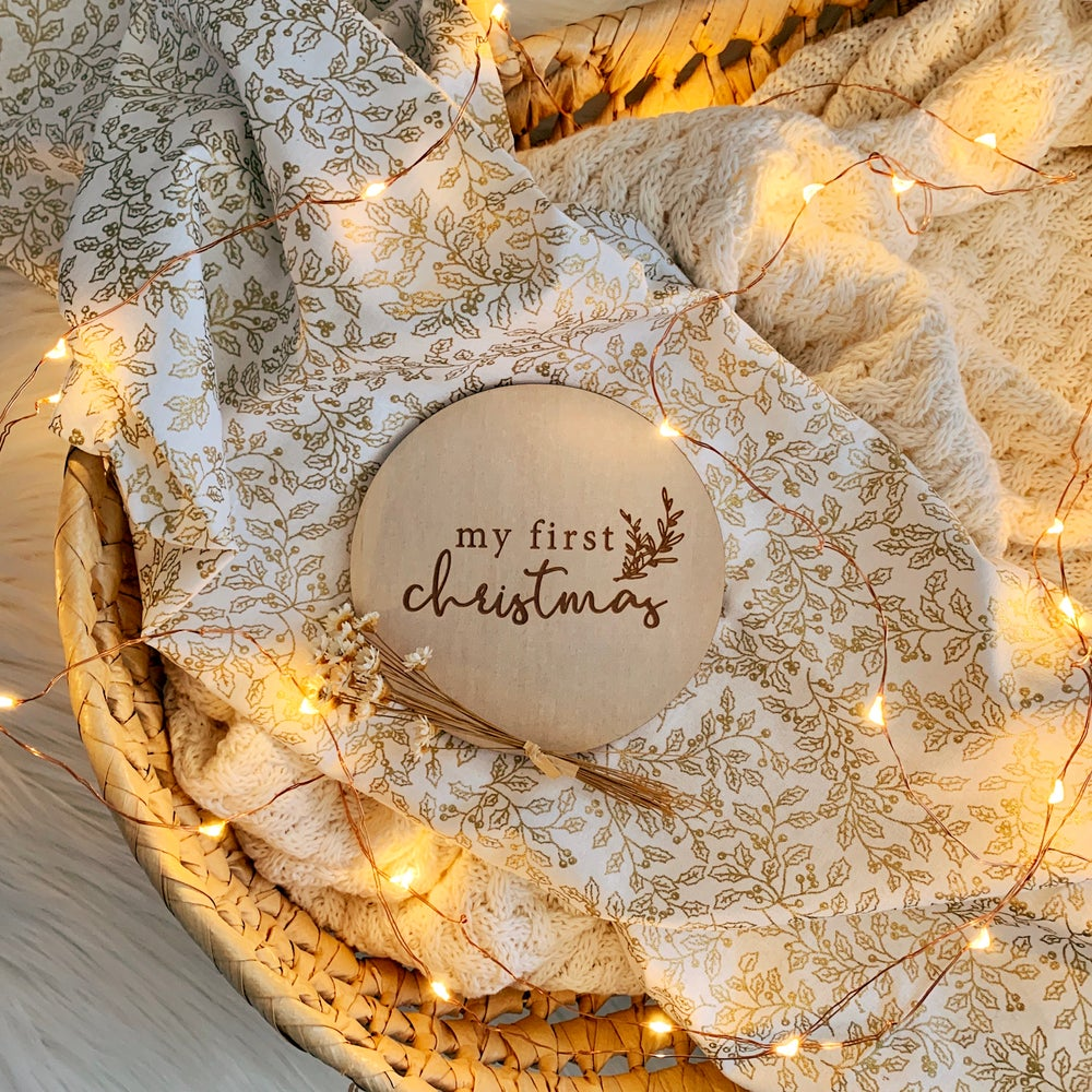 Image of PRE ORDER: My first | Etched milestone plaque