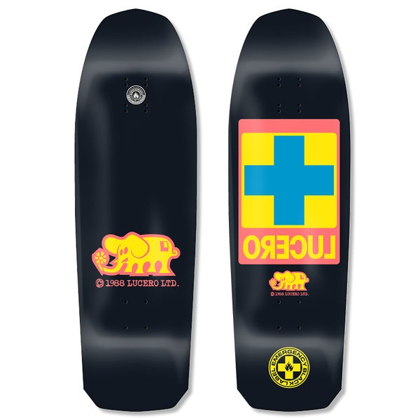 "Image of John Lucero ""Cross"" Re-Issue 10""x32.88"" deck (Black Dip)"