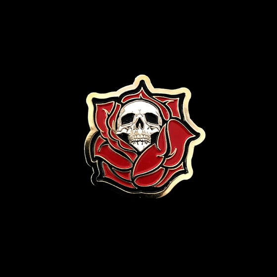 Image of Death Rose Pin