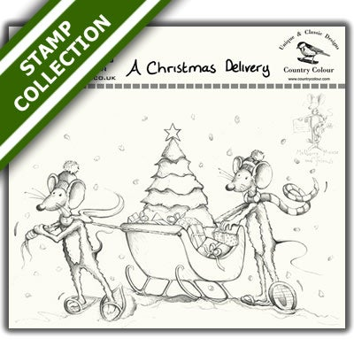 Image of Mulberry Mouse and Friends - A Christmas Delivery Stamp Set