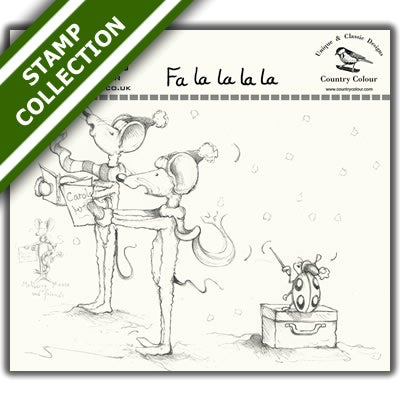Image of Mulberry Mouse and Friends - Fa La La La La Stamp Set