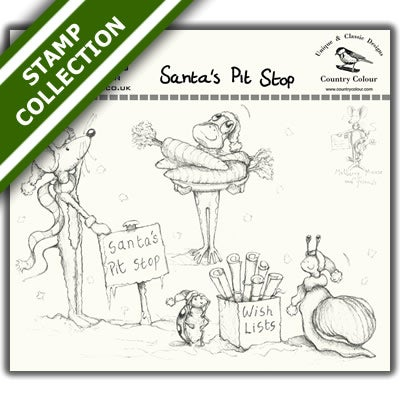 Image of Mulberry Mouse and Friends - Santa's Pit Stop Stamp Set