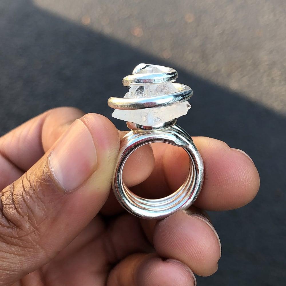 Image of Silver Apophyllite Star Gate Ring
