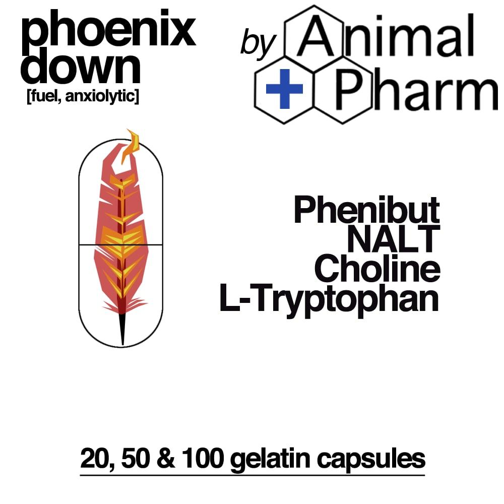 Image of PHOENIX DOWN blend(regen variant) *Phenibut *NALT *Choline *L-Tryptophan