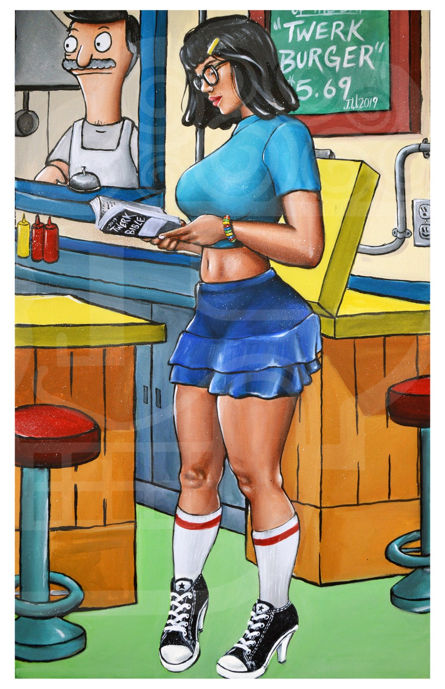 "Image of ""Future Tina"" Bobs Burger By Jeremy Worst Cartoon"