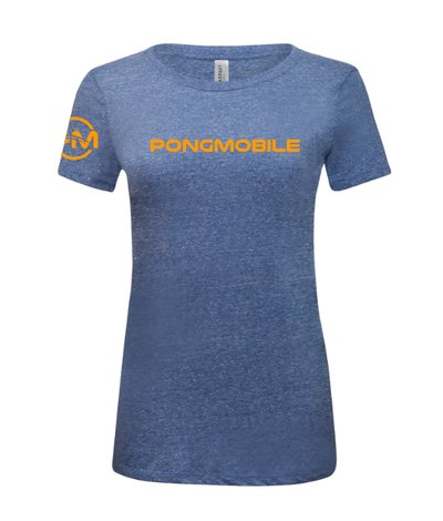 Image of PongMobile Essential Shirt Women Blue/Orange