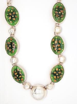 Image of Spring Buds: Cloisonné Enamel Necklace