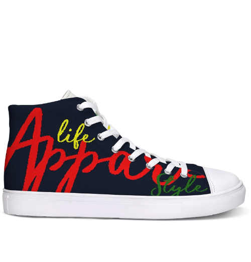 Image of NEW HI-TOP UNISEX LARGE MULTI COLOR UNISEX LOGO SNEAKER
