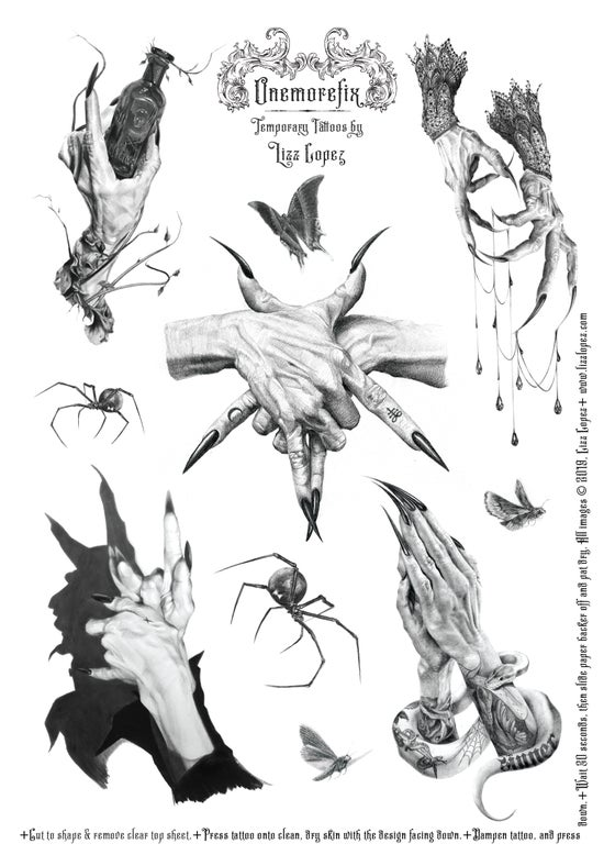 Image of Temporary Tattoo Sheet #1