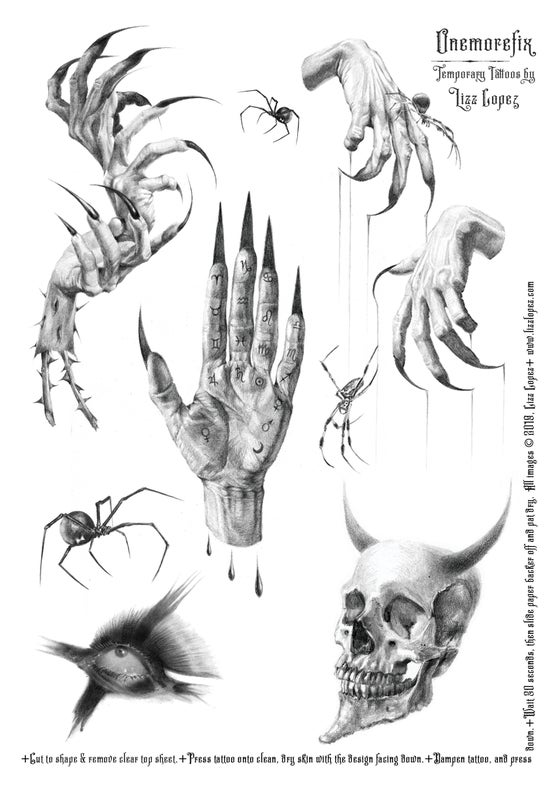 Image of Temporary Tattoo Sheet #2