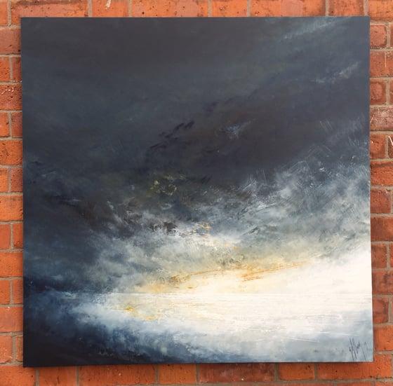Image of Enlightenment  110 x 110cm Original Sky/seascape