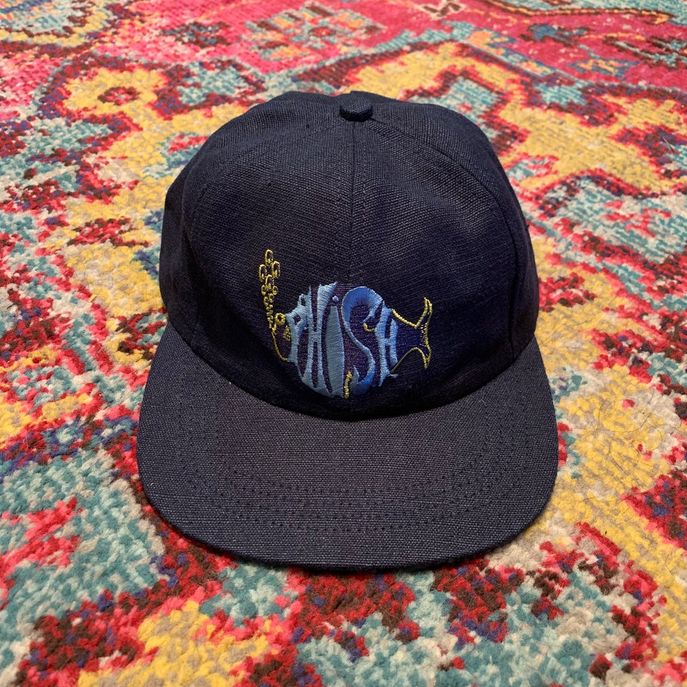 Image of Phish Original Vintage 1990's Hemp Hat! Brand NEW!  - Navy