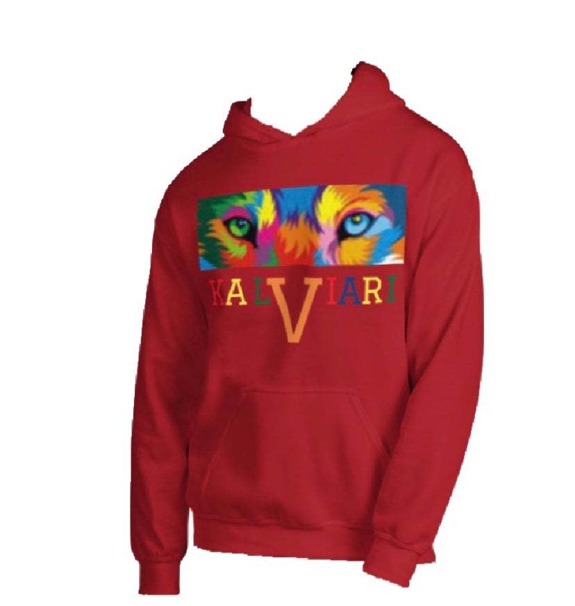 Image of KALVIARI UNIVERSITY KALEIDOSCOPE VISION PULLOVER HOODIE (8 COLORS AVAILABLE)