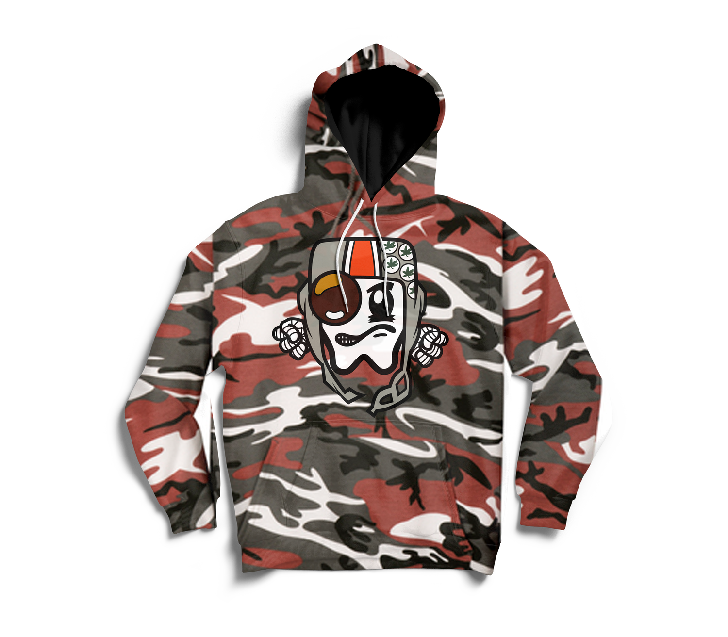 Image of OHio Sta Red Camo Hoody(Limited)
