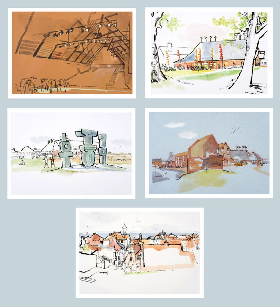 Image of Greetings cards - Snape and Aldeburgh - set of 5