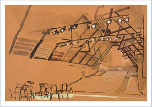 Image of Snape Maltings auditorium - greetings card