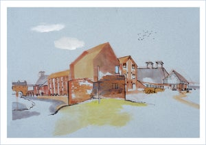 Image of Dovecote at Snape Maltings - greetings card