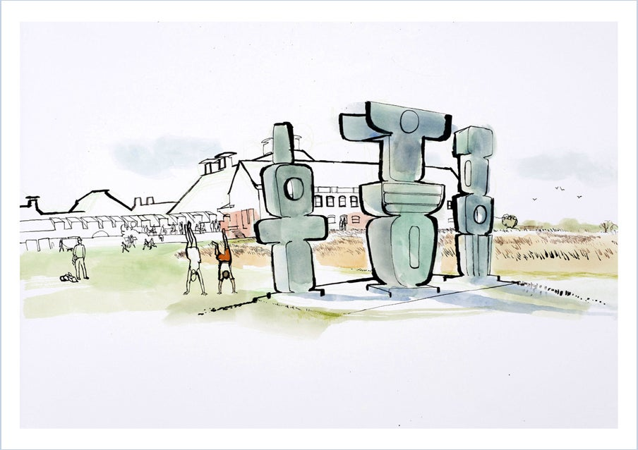 Image of Hepworth sculpture - greetings card