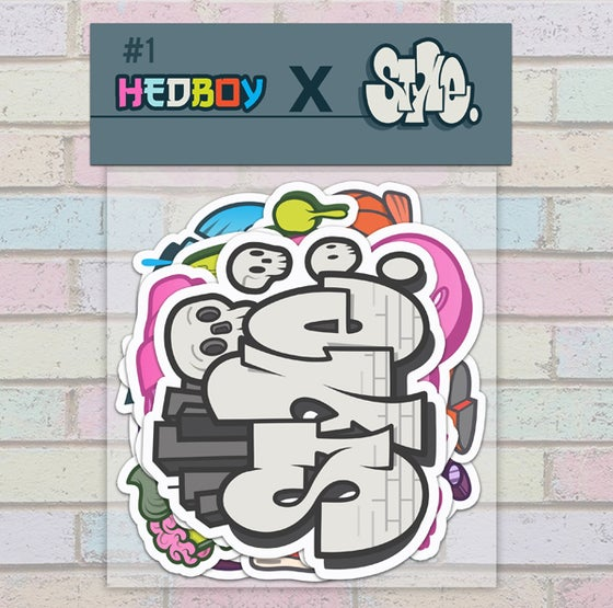 Image of HEDBOY X STYLE DON'T SLEEP STICKER PACK! #1