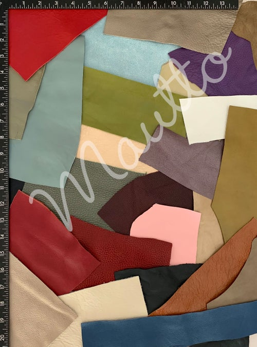 Image of Colorful Leather Pieces - 1 Pound Bag of Scraps & Remnants - for Crafts, Art, DIY Projects, Jewelry