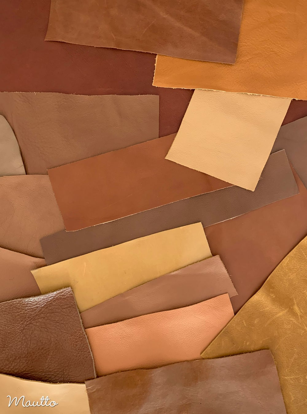 Image of Tan Leather Pieces - 1 Pound Bag of Scraps & Remnants - for Crafts, Art, DIY Projects, Jewelry
