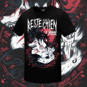"Image of T Shirt ""Reste en Chien #Okami"""