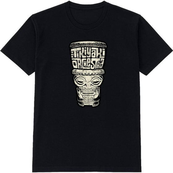 "Image of OFFICIAL - TIKIYAKI ORCHESTRA ""TIKI"" BLACK T-SHIRT"