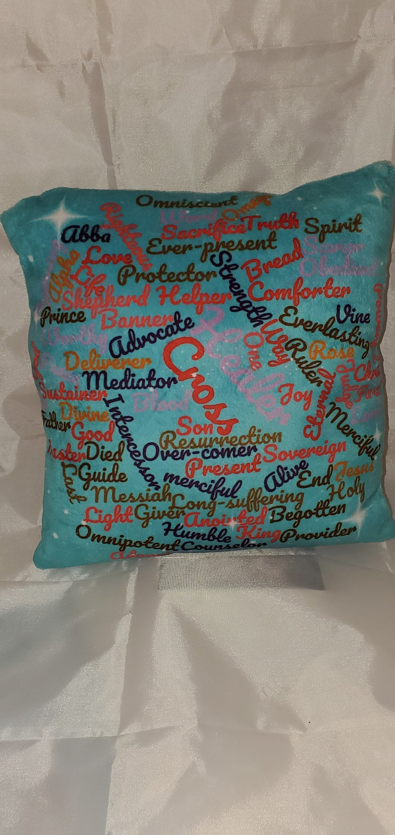 Image of Soft Minky Pillow (names of the Lord) 2 sided