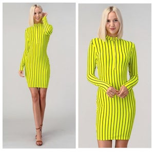 Image of Neon striped dress