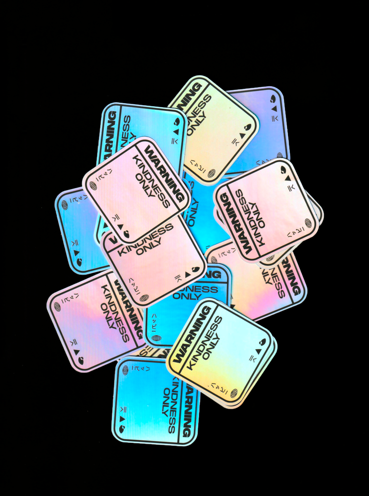 "Image of Mini ""Kindness Only"" - Holographic Sticker"